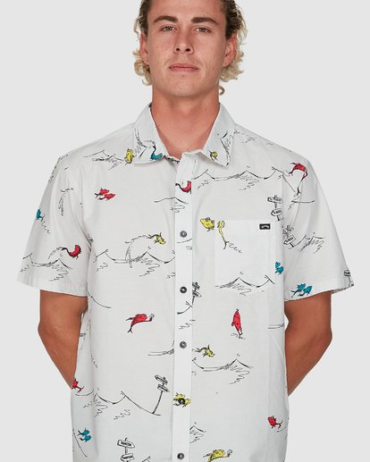 3 Dr. Seuss One Fish Two Fish Shirt White 9503280 Billabong