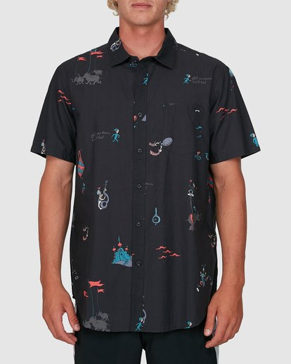 0 Dr. Seuss Oh The Places Shirt Black 9503281 Billabong