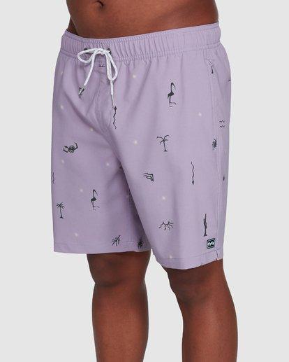 3 Sundays Layback Boardshorts Purple 9503430 Billabong