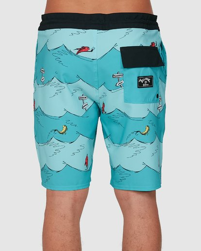 4 Dr. Seuss One Fish Two Fish Lt Blue 9503481 Billabong