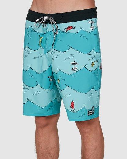 3 Dr. Seuss One Fish Two Fish Lt Blue 9503481 Billabong