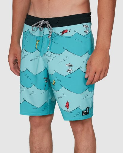 6 Dr. Seuss One Fish Two Fish Lt Blue 9503481 Billabong