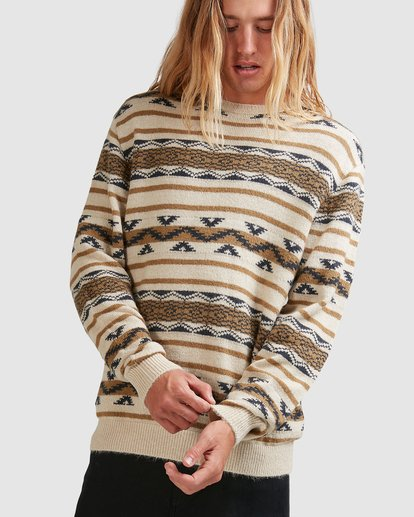 3 Alamo Sweater Crew Sweater Beige 9503611 Billabong