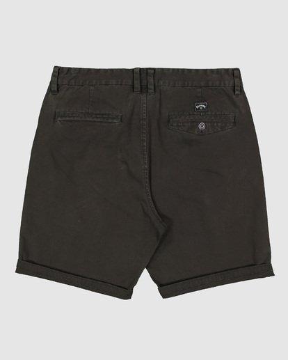 1 Wave Wash Twill Shorts Black 9503706 Billabong