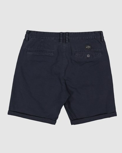 1 Wave Wash Twill Shorts Blue 9503706 Billabong
