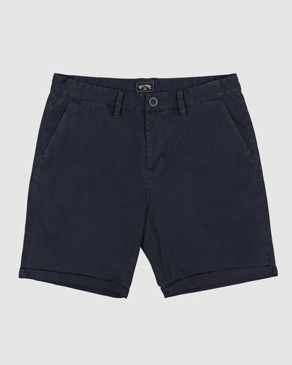 0 Wave Wash Twill Shorts Blue 9503706 Billabong