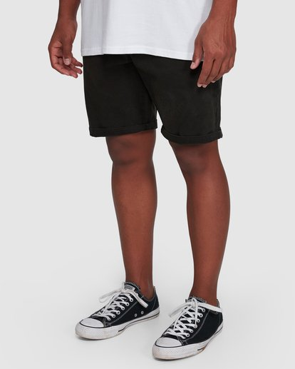 9 Wave Wash Twill Shorts Black 9503706 Billabong