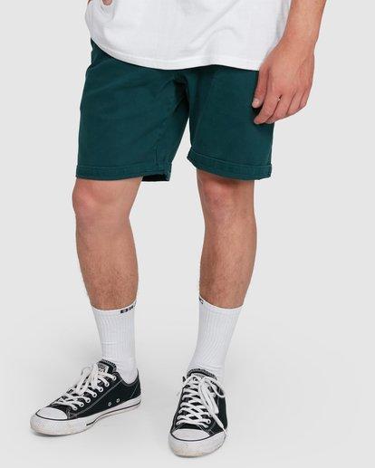 11 Wave Wash Twill Shorts Green 9503706 Billabong