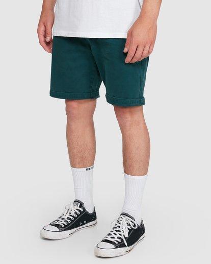 9 Wave Wash Twill Shorts Green 9503706 Billabong