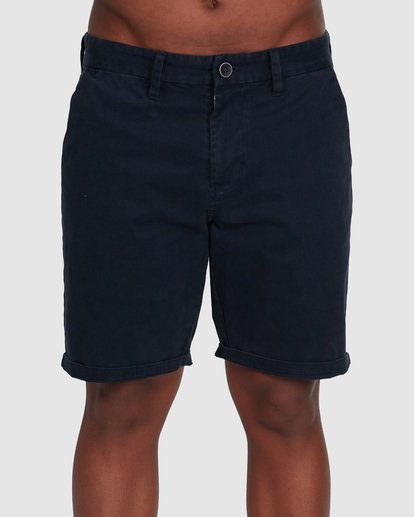2 Wave Wash Twill Shorts Blue 9503706 Billabong