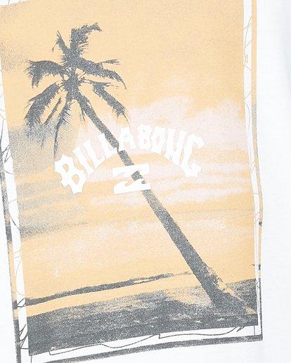 4 Sunshine Happy Short Sleeve Tee White 9504001 Billabong
