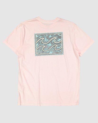 6 Warped Froth Short Sleeve Tee Pink 9504002 Billabong