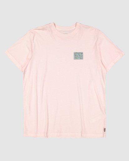 5 Warped Froth Short Sleeve Tee Pink 9504002 Billabong