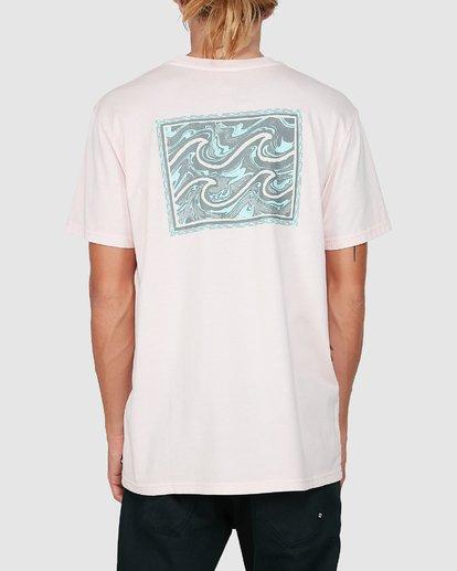 2 Warped Froth Short Sleeve Tee Pink 9504002 Billabong
