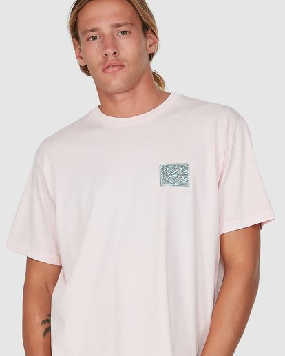 3 Warped Froth Short Sleeve Tee Pink 9504002 Billabong