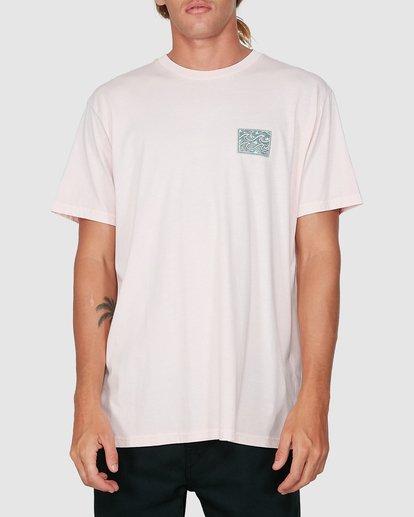 0 Warped Froth Short Sleeve Tee Pink 9504002 Billabong