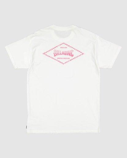 5 Checked Diamond Short Sleeve Tee White 9504008 Billabong