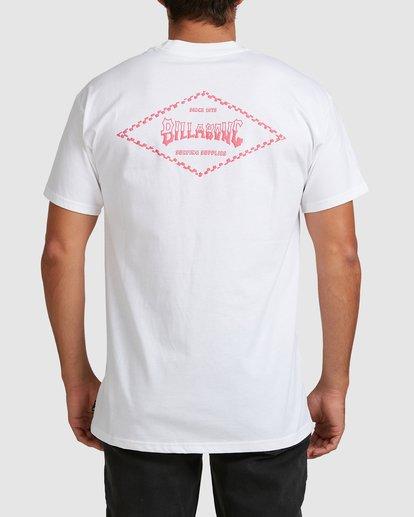 2 Checked Diamond Short Sleeve Tee White 9504008 Billabong