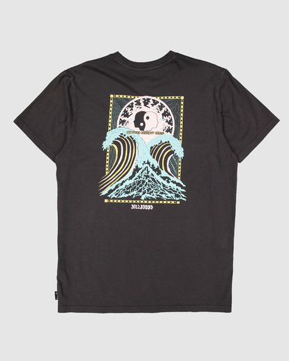 1 Cosmic Waves Short Sleeve Tee Black 9504012 Billabong