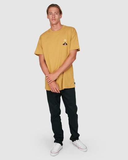 7 Tribal Short Sleeve Tee Yellow 9504014 Billabong
