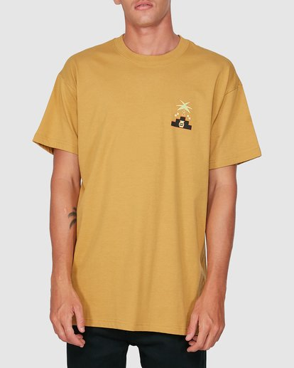 0 Tribal Short Sleeve Tee Yellow 9504014 Billabong