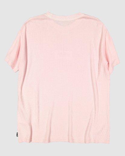6 Waffle Wave Short Sleeve Tee Pink 9504028 Billabong