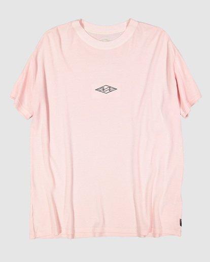 5 Waffle Wave Short Sleeve Tee Pink 9504028 Billabong