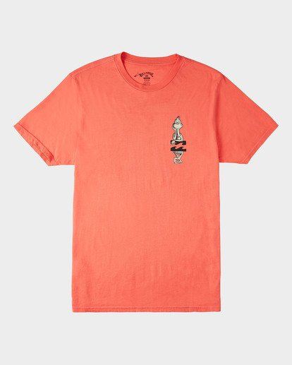 3 Shaka Grinch Short Sleeve T-Shirt Red 9504061 Billabong