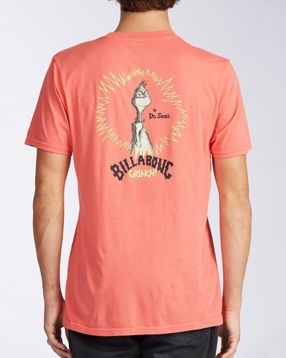 2 Shaka Grinch Short Sleeve T-Shirt Red 9504061 Billabong