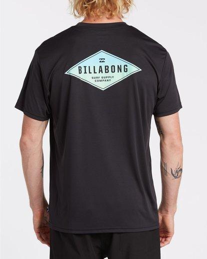 2 Surf Supply UV Short Sleeve Surf Shirt Black 9504092 Billabong