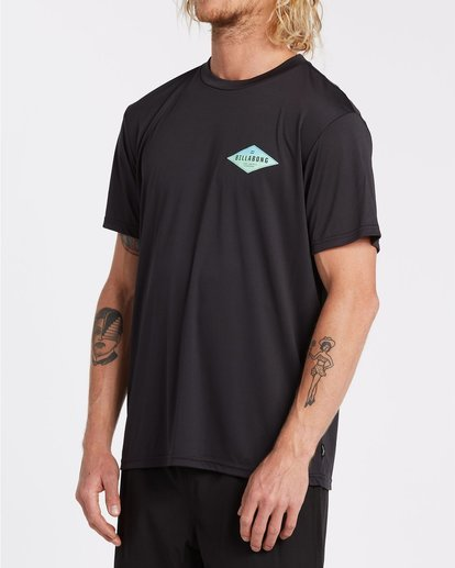 1 Surf Supply UV Short Sleeve Surf Shirt Black 9504092 Billabong