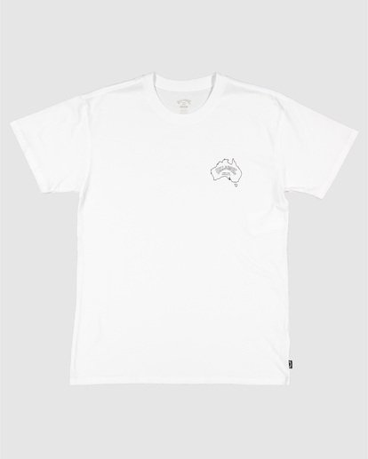 4 Aus Arch Short Sleeve Tee White 9504101 Billabong
