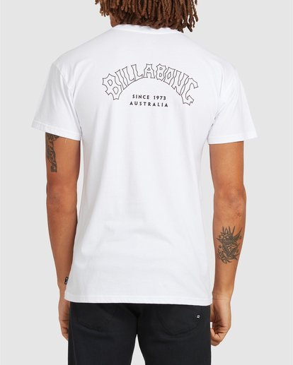 2 Aus Arch Short Sleeve Tee White 9504101 Billabong