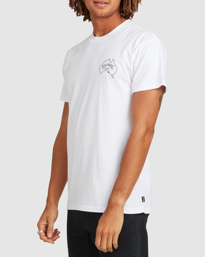 1 Aus Arch Short Sleeve Tee White 9504101 Billabong