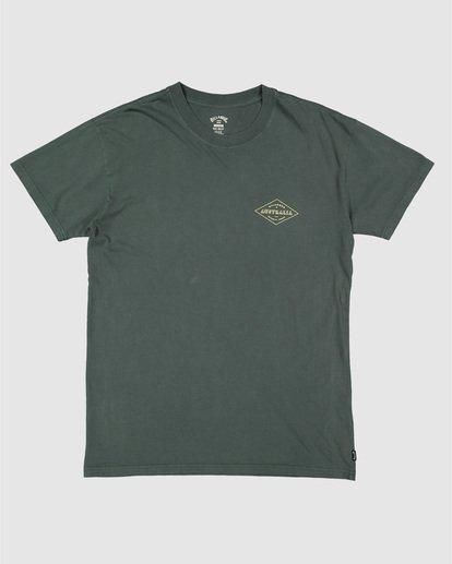 4 Aus Diamond Short Sleeve Tee Green 9504102 Billabong