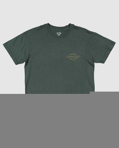 6 Aus Diamond Short Sleeve Tee Green 9504102 Billabong