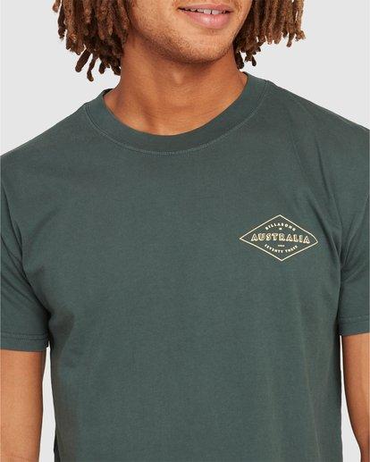 3 Aus Diamond Short Sleeve Tee Green 9504102 Billabong