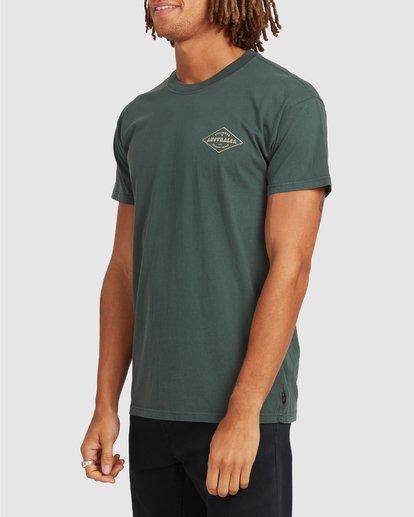 1 Aus Diamond Short Sleeve Tee Green 9504102 Billabong