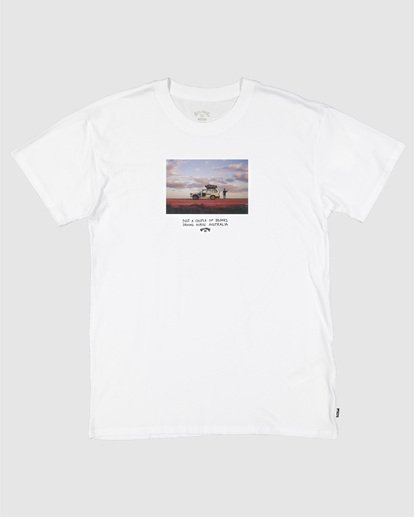 2 Road Stop Short Sleeve Tee White 9504105 Billabong