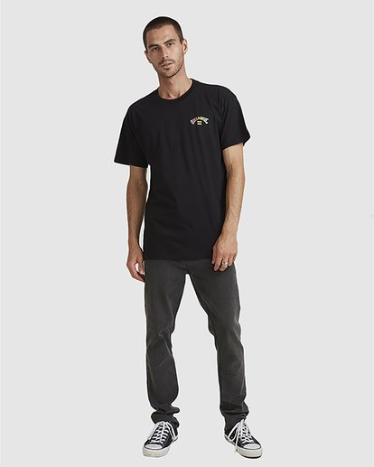 5 Arch Fade Tee Black 9504106 Billabong