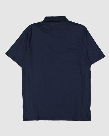 6 Banded Die Cut Polo Blue 9504140 Billabong