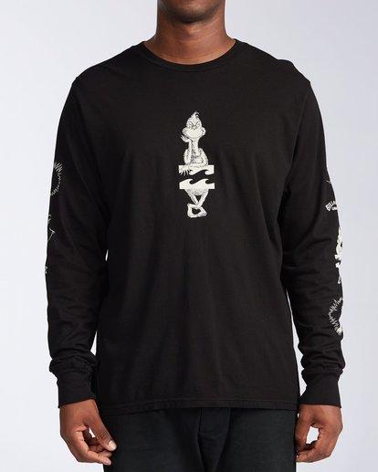 0 Grinchmas Vacation Long Sleeve T-Shirt Black 9504192 Billabong