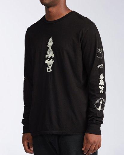 1 Grinchmas Vacation Long Sleeve T-Shirt Black 9504192 Billabong