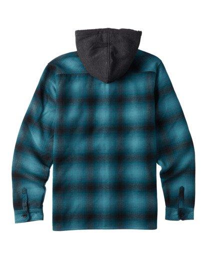 5 A/DIV Furnace Bonded Hooded Shirt Blue 9504210 Billabong