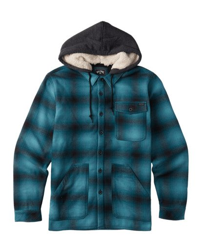 4 A/DIV Furnace Bonded Hooded Shirt Blue 9504210 Billabong