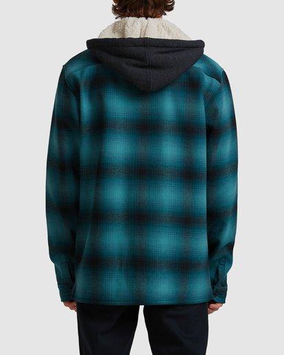 2 A/DIV Furnace Bonded Hooded Shirt Blue 9504210 Billabong