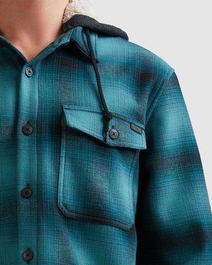 3 A/DIV Furnace Bonded Hooded Shirt Blue 9504210 Billabong