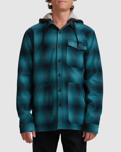 0 A/DIV Furnace Bonded Hooded Shirt Blue 9504210 Billabong