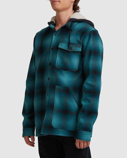 1 A/DIV Furnace Bonded Hooded Shirt Blue 9504210 Billabong