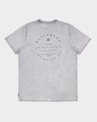 6 Wavy Davy Short Sleeve Tee Grey 9507001 Billabong